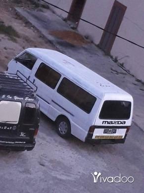 Vans in Port of Beirut - فان مازدا مجهز لنقل الطلاب