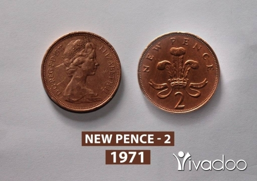 Other Goods in Jal el-Dib - Rare coin 2 New Pence 1971. The two pence coin minted from bronze.