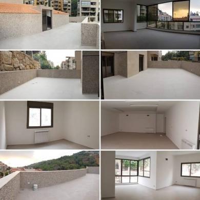Apartments in Mansourieh - شقة ١٠٠م٢  جديدة ومطلة على الجبل للبيع في المنصورية