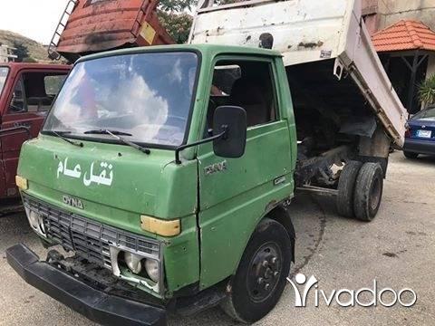 Trucks in Tripoli - تويوتا دينا قلاب مازوت وراقو بنزين انقاض