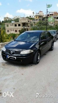 Renault in Nabatyeh - رينو ميغان لون اسود موديل 2008 للبيع منطقة النبطية