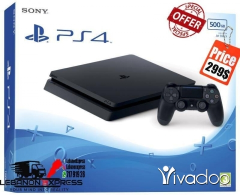 PS4 (Sony Playstation 4) in Beirut City - PS4 Slim New (Original)