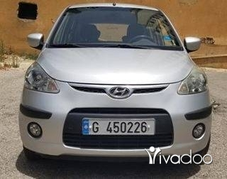 Hyundai in Beirut City - 2010 with Airbag Hyundai I10 Full option Excellent ConditionNo AccidentsSilver ColorOne Owner