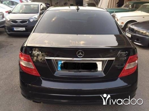 Mercedes-Benz in Saida - Mercedes C350 2008 black&black super super clean for more details plz contact