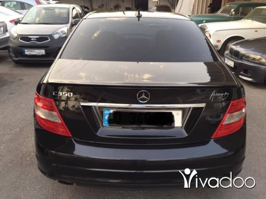 Mercedes-Benz in Beirut City - Mercedes C350 2008 black&black super super clean for more details plz contact