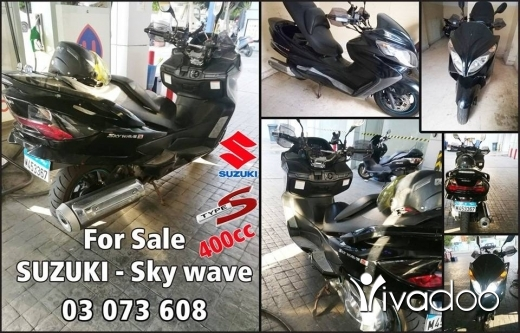 Barossa in Port of Beirut - SUZUKI - Sky wave 400cc