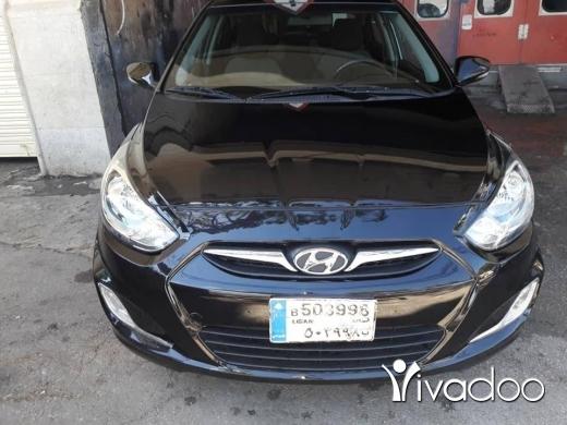 Hyundai in Beirut City - Accent black model 2013