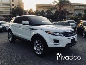 Rover in Beirut City - 2013 evoque white on black