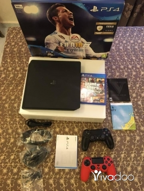 PS4 (Sony Playstation 4) in Beirut City - Ps4 slim 500GB 2 controller