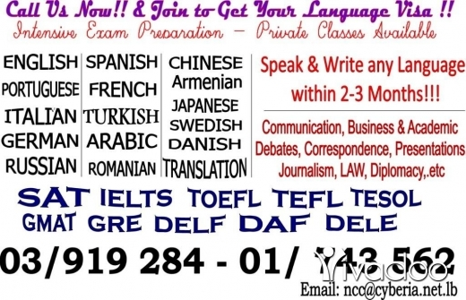 Tuition & Classes in Hamra - Master your Language,Speak It!! Get Ur Language Visa within 2-3 months & Travel with US!!