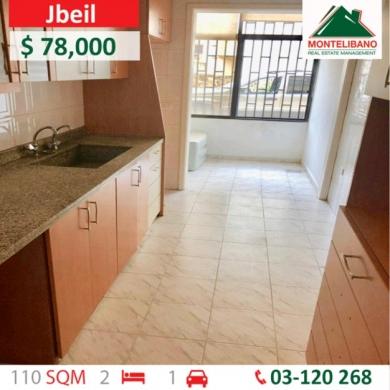 Apartments in Jbeil - شقة للبيع في حبوب - جبيل 110 مم - 78,000 دولار