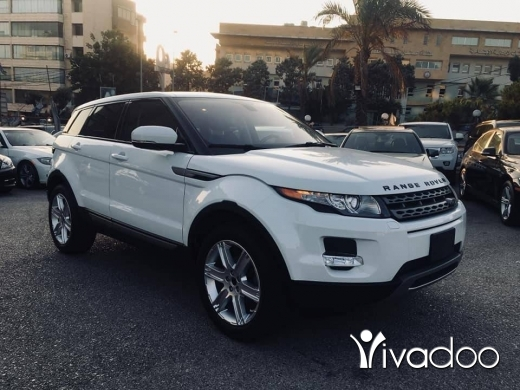 Rover in Beirut City - 2013 Range Rover Evoque white.