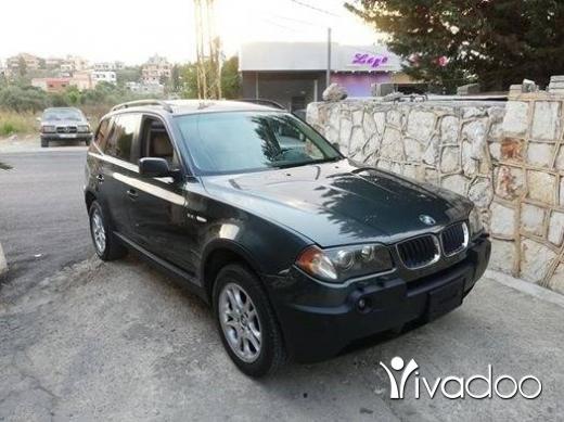 BMW in Nabatyeh - bmw X3 model 2004 jeep ktir ndif moter vites mikanic ac top enkaz tel 03237206