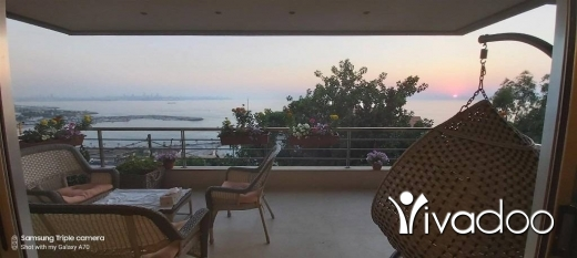 Apartments in Dbayeh - A 250 m2 Luxurious apartment having an open sea view for sale in Dbaye