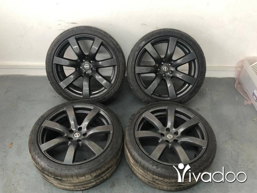 """Accessories in Port of Beirut - Genuine Nissan GT-R R35 Anthracite Alloy Wheels with Tyres 20"""" NISMO - ALL 006"""