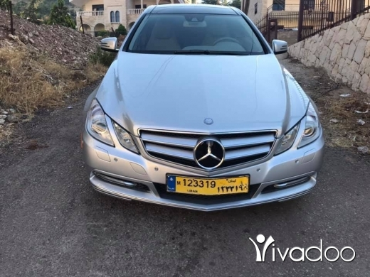 Mercedes-Benz in Beirut City - E350 Silver Coupe