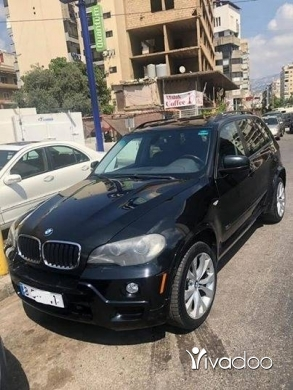 BMW in Tripoli - X5 ٢٠٠٧ أسود قلب أسود