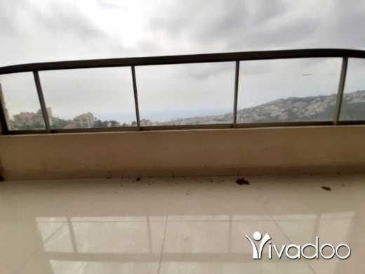 Apartments in Ghazir -  A 130 m2 apartment having an open sea view for sale in Ghazir