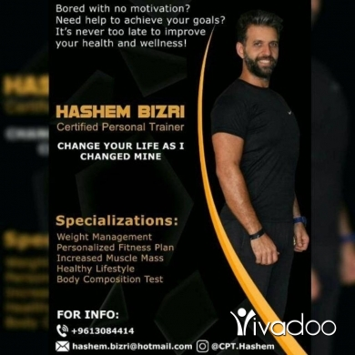 Personal Trainers in Saida - Certified Personal Trainer مدرب شخصي معتمد