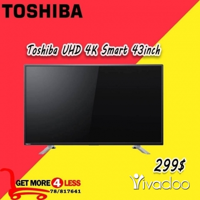 "Televisions, Plasma & LCD TVs in Beirut City - Toshiba TV 43"" UHD 4K Smart 43U7750EV"