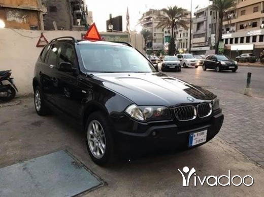 BMW in Beirut City - Bmw x3 model 2004 full option panoramic 60000 miles no accident ☎️☎️