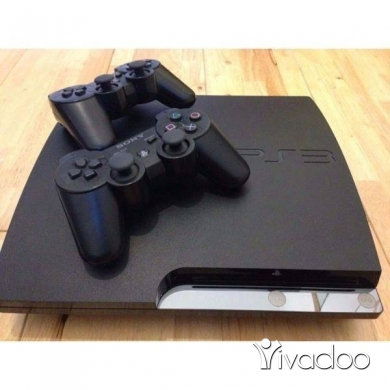 PS3 (Sony PlayStation 3) in Beirut City - PS3 Slim Original + 10 Games + 2 Controllers