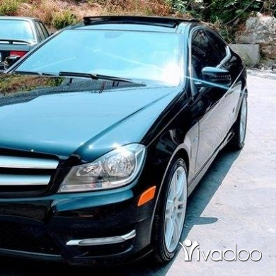 Mercedes-Benz in Saida - mercedes~ black\black ~ C ~ coupe ~ 2012~ panoramic ~ look AMG ~ rims 18 ~big screen camera ~ SMG ~e