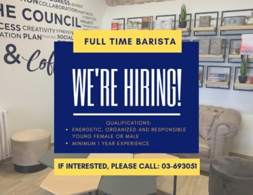 Other in Kornet Chehwane - Full-Time Barista & Cashier at a Coffee Shop