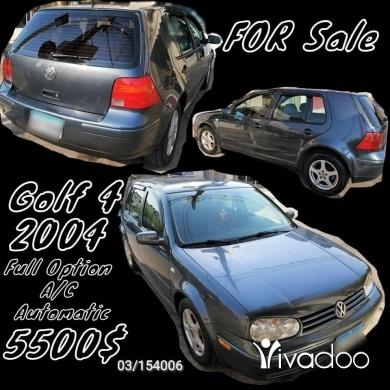 Volkswagen in Jbeil - Golf 4 Full Option 2004