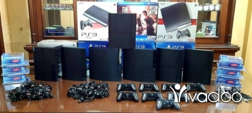 PS3 (Sony PlayStation 3) in Tripoli - Playstation 3 European with 2 joysticks