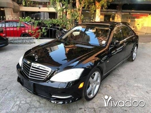 Mercedes-Benz in Tripoli - 2012 Mercedes S550 AMG pkg V8 bitrubo blk/blk panoramic keyless sensors camera not registered