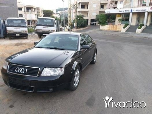 Audi in Metn - Audi A6 Model 2002 Black on Black leather.full