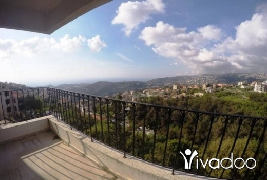 Apartments in Ain Aar -  LEASE TO BUY - A 230 m2 apartment having an open mountain view for sale in Ain aar