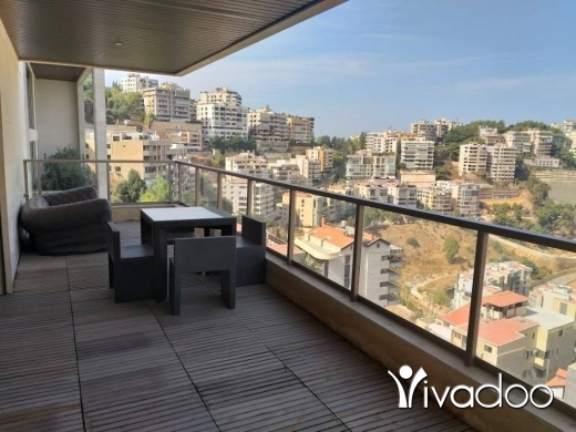 Apartments in Hazmieh - A decorated semi-furnished 320 m2 duplex apartment for rent in Hazmieh
