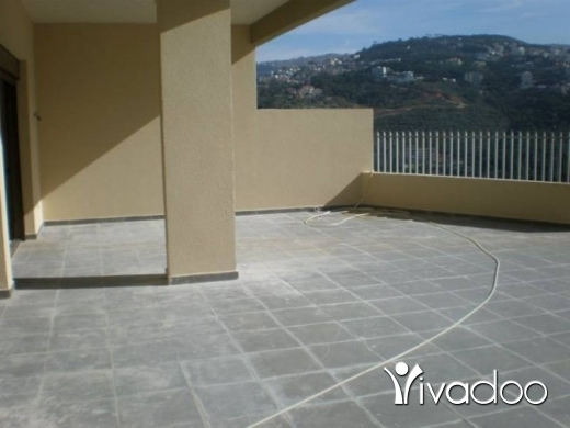 Apartments in Baabda - APARTMENT FOR SALE IN BAABDA LOUAIZEH WITH TERRACE AND PANORAMIC VIEW