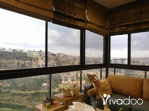 Apartments in Mansourieh - LEASE TO BUY - A 180 m2 apartment with an open sea view for sale in Mansourieh