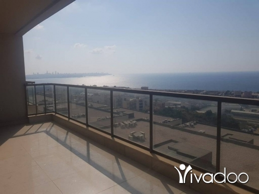 Apartments in Dbayeh - HOT DEAL - A 185 m2 apartment with a Panoramic sea view for sale in Dbaye