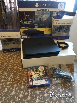 PS4 (Sony Playstation 4) in Port of Beirut - بلاي ستيشن 4 سليم 500Gb مع مسكتين
