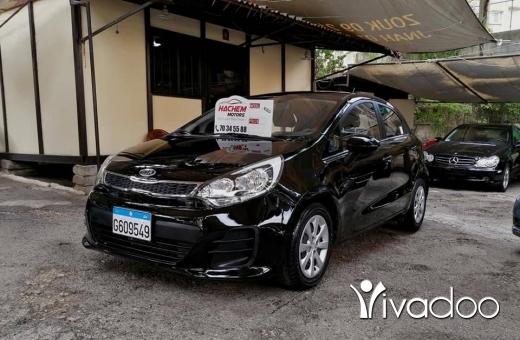 Kia in Beirut City - Kia Rio 2017 black 1.5L 4cyl