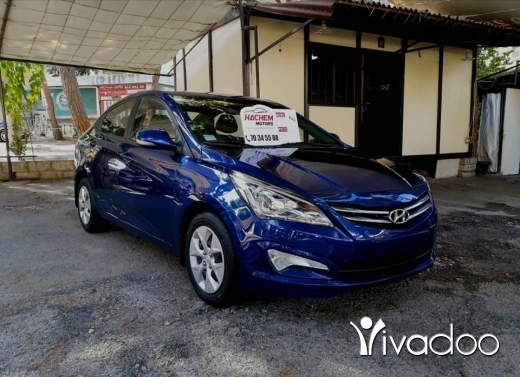 Hyundai in Beirut City - Hyundai Solaris 2016 blue 4cyl