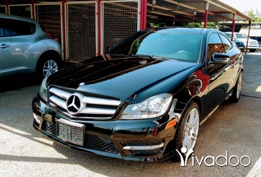 Mercedes-Benz in Saida - mercedes~ black\black ~ C ~ coupe ~ 2012~ panoramic ~ look AMG ~ rims 18 ~big screen camera ~ SMG ~