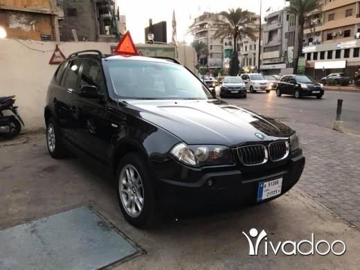 BMW dans Beyrouth - 6 000 $ حرقنا الاسعار اكس ٣ موديل ٢٠٠٤ مفول سقف بانوراميك ، دفع رباعي، ☎️☎️