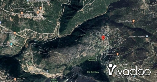 Land in Zabougha - A 1,111 m2 land having an open nature view for sale in Zabbougha