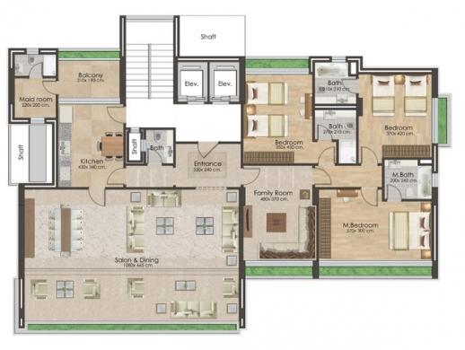 Apartments in Other - شقة للبيع في الرملة البيضاء