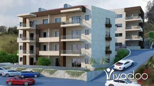 Apartments in Jadayel - Simplex Apartment For Sale in Jdayel With Nice Sea View : L04094