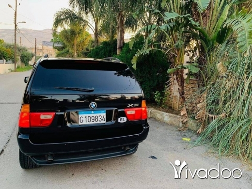 BMW in Tripoli - 71 445 402 $ x5 2003 aswad 3.0 طرابلس, الشمال  Écrire