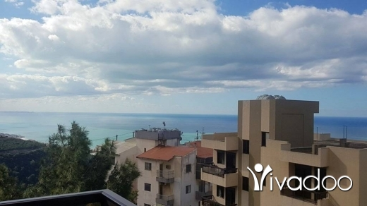 Apartments in Mastita - Simplex Apartment For Sale With Private Garden and Nice View Over The Sea : L03972