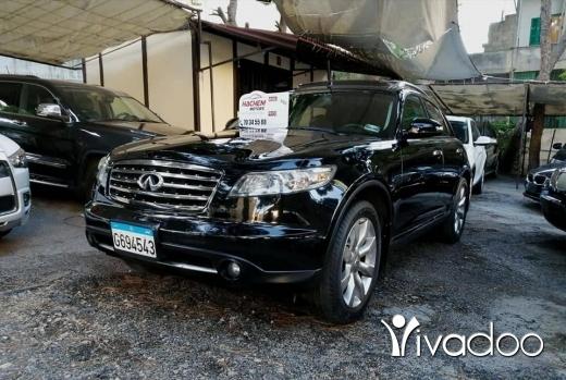 Infiniti in Beirut City - 1 900 $ FX35 black /black 2008 AWD technology
