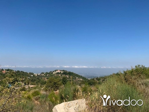 Land in Ram - A 4150 m2 land with an open mountain/sea view for sale in Batroun