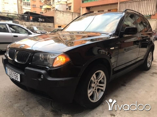 BMW in Beirut City - For sale x3 2004 3.0 panoramic mfawal